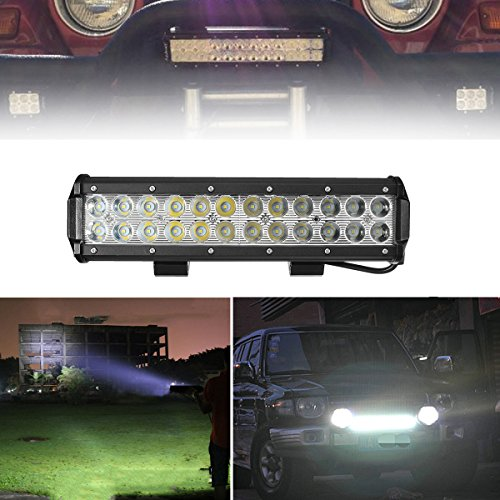 AUDEW Professional Spot Beam LED Lights Bar 12 Inch 72W 7200LM Extremly Bright LED Bar LED Driving Light Fog Lights IP67 Waterproof for Offroad ATV Truck Boat Lamp 4WD 12V 24V