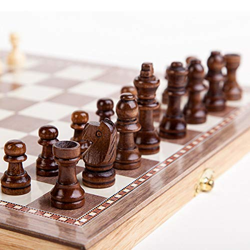 Chess Set The Queens Gambit Same Product in The Play (Upgraded Version 3-in-1) Have Chess, Backgammon, Checkers.The Best Gift for The Queens Gambit Fan and Love Traditional Games
