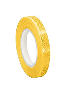 "3M 3431 Yellow Micro Prismatic Sheeting Reflective Tape, 0.5"" Width x 5 yd Length (Pack of 12)"