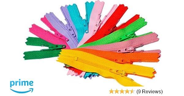 10\ YKK #3 Skirt /& Dress Zippers 10 Inch ~ Assortment of Colors 25 Zippers