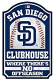 San Diego Padres MLB Clubhouse No Offseason 11 x 17inch wood Sign
