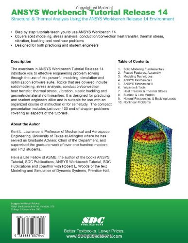 Buy Ansys Workbench Tutorial Release 14: Structure &