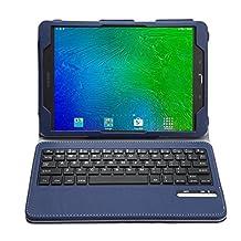 Galaxy Tab S2 T813N / T819N Keyboard case, KuGi ®-High quality Ultra-thin Detachable Bluetooth Keyboard Stand Portfolio Case / Cover for Samsung Galaxy Tab S2 T813N / T819N tablet(9.7 inch) (Blue)