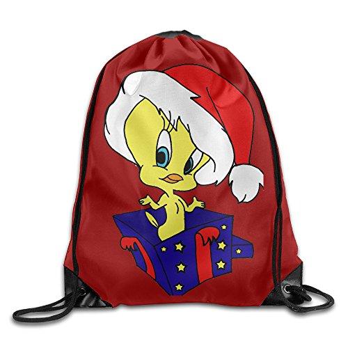 Tweety Bird Christmas Travel Sport Bag Drawstring Backpack/Rucksack (Tweety Handbag)