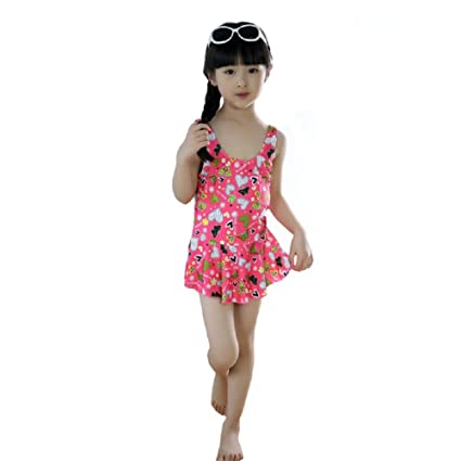 b716308a9e THE MORNING PLAY Infant Girl's Poly Cotton 1 Piece Swimsuit Swimwear  Swimming Costume Baby Girls for