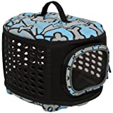 Petmate 21786 Curvations Cat and Dog Retreat Kennel and Carrier Blue/Gray