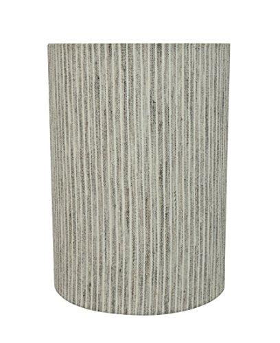 Aspen Creative 31275 Transitional Drum (Cylinder) Shape Construction Light Grey, 8