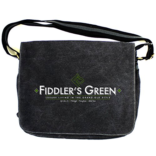 LAND OF THE DEAD: FIDDLERS GREEN Vintage Canvas Despatch Bag (One Size Fits All/Vintage Black)