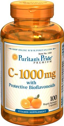 Puritans Pride Vitamin C-1000 Mg with Bioflavonoids Capsules, 100 Count