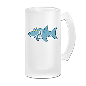 Frosted Beer Cup, Shark Cartoon - Free Clipart Personalized Stein