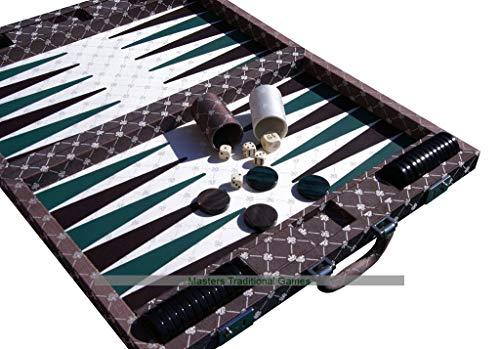 (Dal Negro Prestige Backgammon Case Set (Brown) )