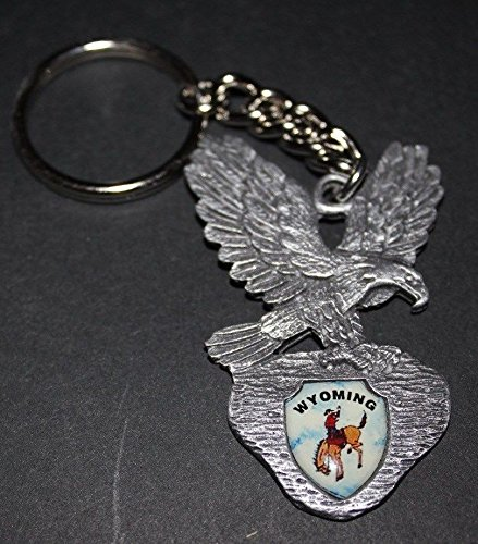 Wyoming - Eagle Key Chain