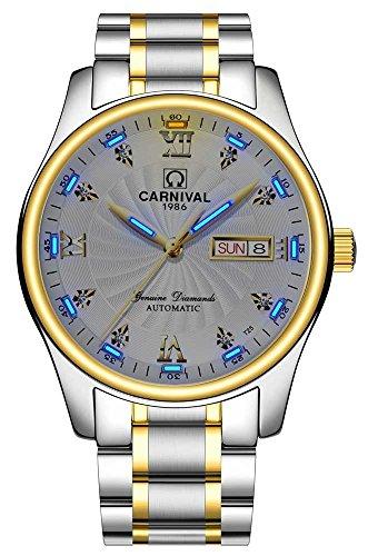 Carnival Men's Wrist Watches Automatic Mechanical Luminous Tritium Military Watch