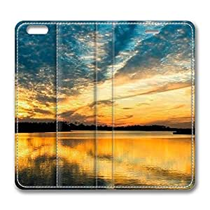 iPhone 6 Leather Case, Personalized Protective Flip Case Cover Beautiful Riverscape for New iPhone 6
