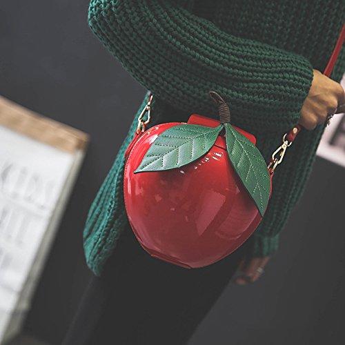 Body MILATA Bag Shape Clutch Purse Red Pu Cross Leather Women Fruit Apple zrvqRz