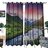 Best Georgia European Coffees - Warm Family Asian Blackout Window Curtain Colorful Overcast Review