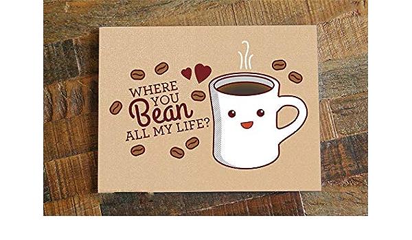 Coffee Card Thank You Coffee Love Handmade Greeting Card OOAK