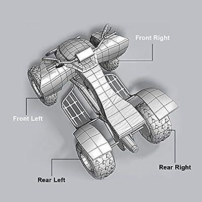 ECCPP CV Axles for 2009 2010 2011 2012 2013 2014 Polaris Ranger RZR S/RZR 4 800 Rear Left/Right 2PCS Complete Shaft Assemblies: Automotive