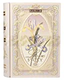 """Basilur Pure Ceylon Black and Green leaf tea with amaranth, almond, rose """"Love Story Volume #2"""" in metal caddy, 100 gr"""
