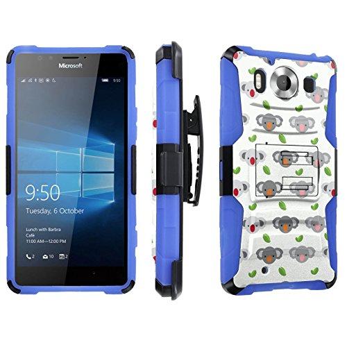 Photo - [SkinGuardz] Case for Microsoft Lumia 950 [Heavy Duty Ultra Armor Tough Case with Holster] - [Koala Bear]