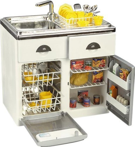 (Pretend Play Toy Product: Toy Sink, Dishwasher and Refrigerator Kitchen Set)