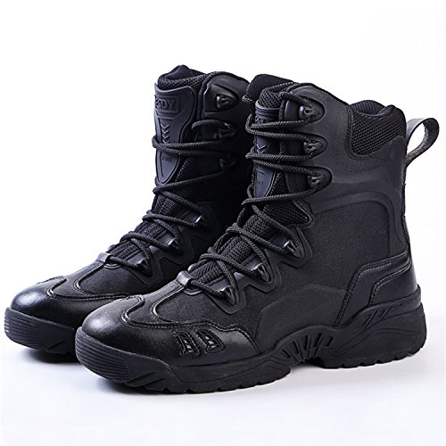 Rainstar Mens Desert Jungle Boots Military Combat Tactical Boot Duty Work Shoe Zwart