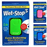 Wet-Stop3 Green Bedwetting Enuresis Alarm with Loud Sound and Strong Vibration for Bedwetters, Potty Training for Boys or Girls, Proven Solutions