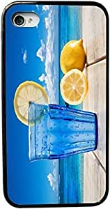 XiFu*MeiSparkling Water and Lemon on Deck Design Personality Silicon Rubber Luxury Cover Case For iphone 6 4.7 inch (Black & White) By ALL MY DREAMS!!XiFu*Mei