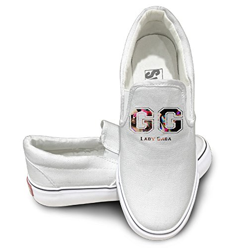 DHome Lady Gege Athletic Unisex Flat Canvas Sneaker Shoes 42 White