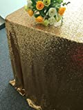 ShiDianYi 120cmx180cm Gold Sequin Table Cloth For Wedding/Event/Party/Banquet
