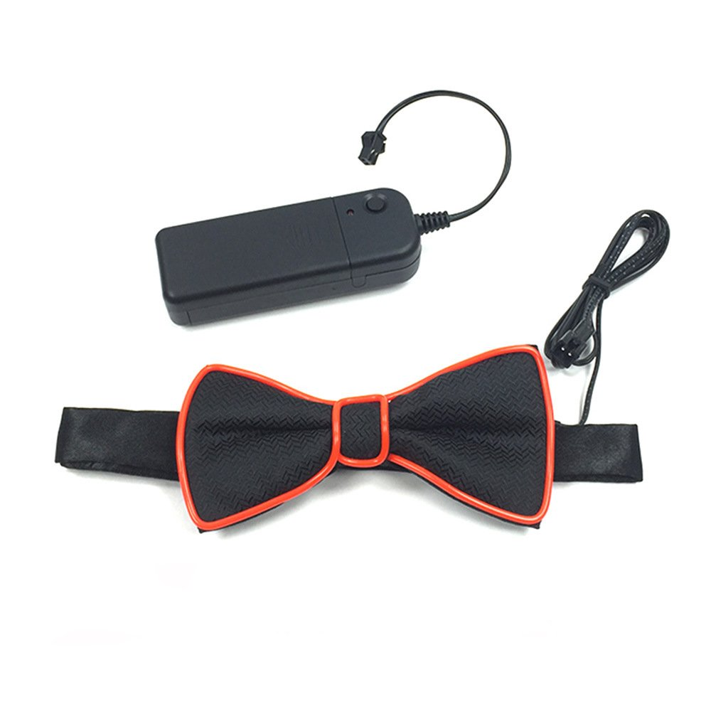 Denshine Bow Tie, Bow Ties for Men/Boys LED Light Up Bow Tie Voice-Activated Drive Bow Tie for New Years/Christmas/Halloween Party 2018 Newest Novelty Bow Ties (Red)