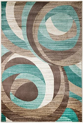 Rugshop Newbury Collection Traditional Medallion Area Rug 5 x 7 Gray