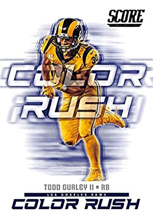 buy online 16c76 05767 Amazon.com: 2018 Score Color Rush #4 Todd Gurley II Los ...