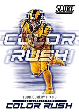 c351fd24dfb Amazon.com: 2018 Score Color Rush #4 Todd Gurley II Los Angeles Rams ...