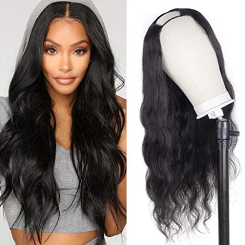 180% Body Wave Human Hair Wigs for Black Women Brazilian Remy None Lace Front Wig Glueless Full Head U-part Wig Hair…