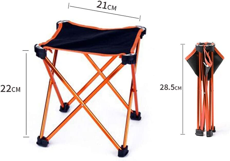 Zxb-shop Outdoor Folding Stool Outdoor Portable Folding Chair Ultra Light Travel Small Chair Outdoor Fishing Special Stool Folding Camping Stool (Color : E) F