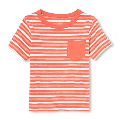 (The Children's Place Baby Boys Printed Short Sleeve T-Shirt, Papaya Sorbet, 9-12MOS)