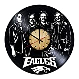 Eagles Music Band Vinyl Wall Clock – Handmade Gift for any Occasion – Unique Birthday, Wedding, Anniversary, Wall Décor Ideas for any Space
