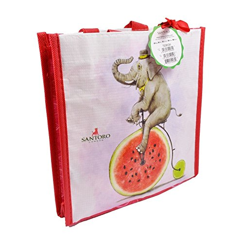 Santoro Fruity Scooty Elephant Mini Shopper Bag