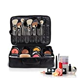 "Premium Large Cosmetic - Makeup Bag by Chillax 16.14""- Best Train Case Organizer for Artist Women - Portable Travel Friendly Professional Make up Case for all Cosmetics"