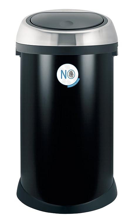 Brabantia Touch Bin 50 Liter Wit.Brabantia Touch Bin 50 L Matt Black With Fingerprint Proof Lid