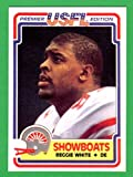 Reggie White 1984 Topps USFL Football Rookie Reprint Card (Showboats) (Eagles) (Packers)