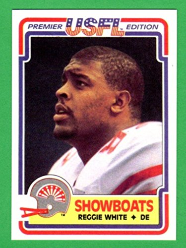 Reggie White 1984 Topps USFL Football Rookie Reprint Card (Showboats) (Eagles) - 2003 Card Finest Topps