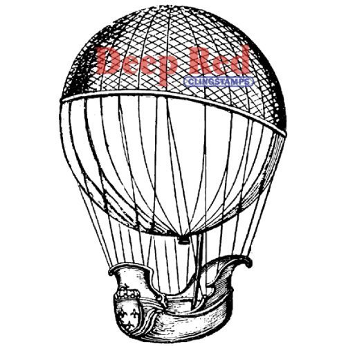 Deep rosso Cling Stamp-Airship by Deep rosso Stamps