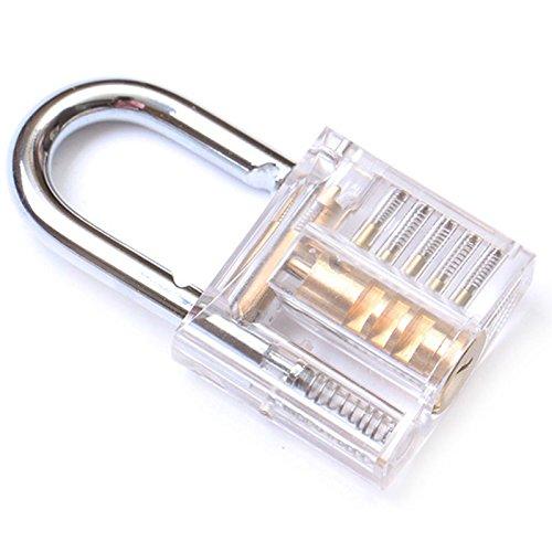 2Pcs Visible Transparent Cutaway Locksmith Trainer Practice Padlocks with 24 Hooks YTQ
