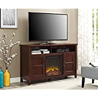 WE Furniture 52 Rustic Chic Fireplace TV Stand - Coffee, 52,