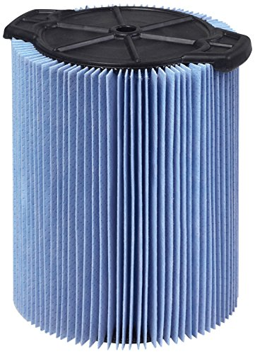 WORKSHOP Wet Dry Vac Filters WS22200F2 Fine Dust Wet Dry Vacuum Filters (2-Pack - Shop Vacuum Cleaner Filters) For WORKSHOP 5-Gallon to 16-Gallon Shop Vacuum Cleaners (Concrete Patio Replacing)
