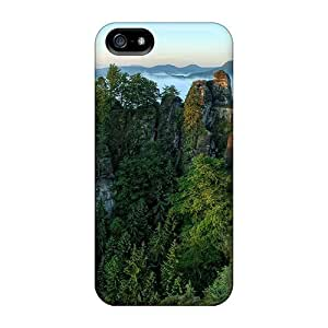 Top Quality For HTC One M7 Phone Case Cover With Nice Mountains Bridge Appearance