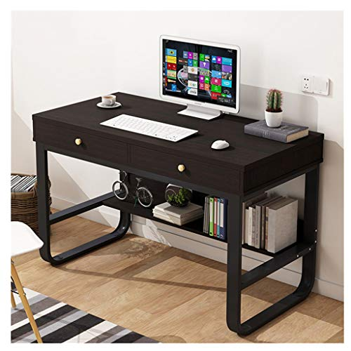 Natural Maple Finish Wood - ErYao Writing Desk with Drawer, Small