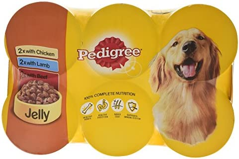 Pedigree Dog Tins Mixed Selection in Jelly, 6 x 385 g – Dogs Corner